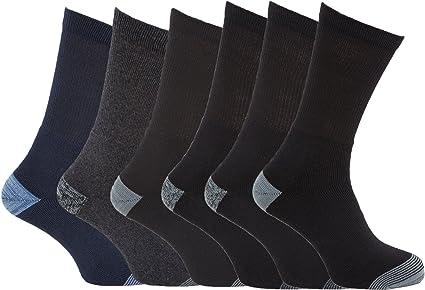Severyn Excelente calcetines para trabajar en tallas grandes 45-49 EUR para hombre/caballero - Pack de 6 pares de calcetines (45-49 EUR/Negro/Azul marino/Gris): Amazon.es: Ropa y accesorios