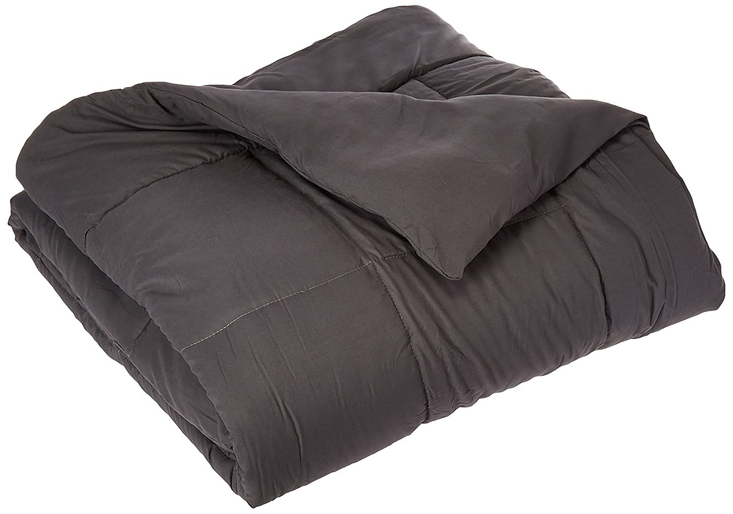 Elegant Comfort Luxury Down Alternative Over-Filled Comforter/Duvet Cover Insert Hypoallergenic, Twin, Black 36RW- Black Comforter Twin