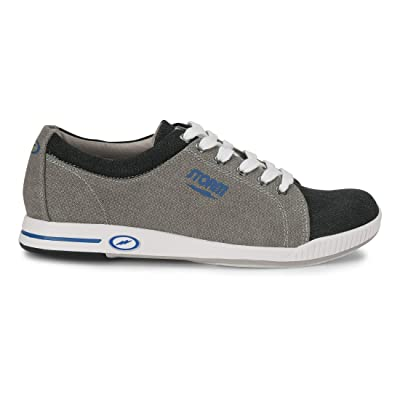 Storm Mens Bill Bowling Shoes- Grey Twill/Black | Fashion Sneakers