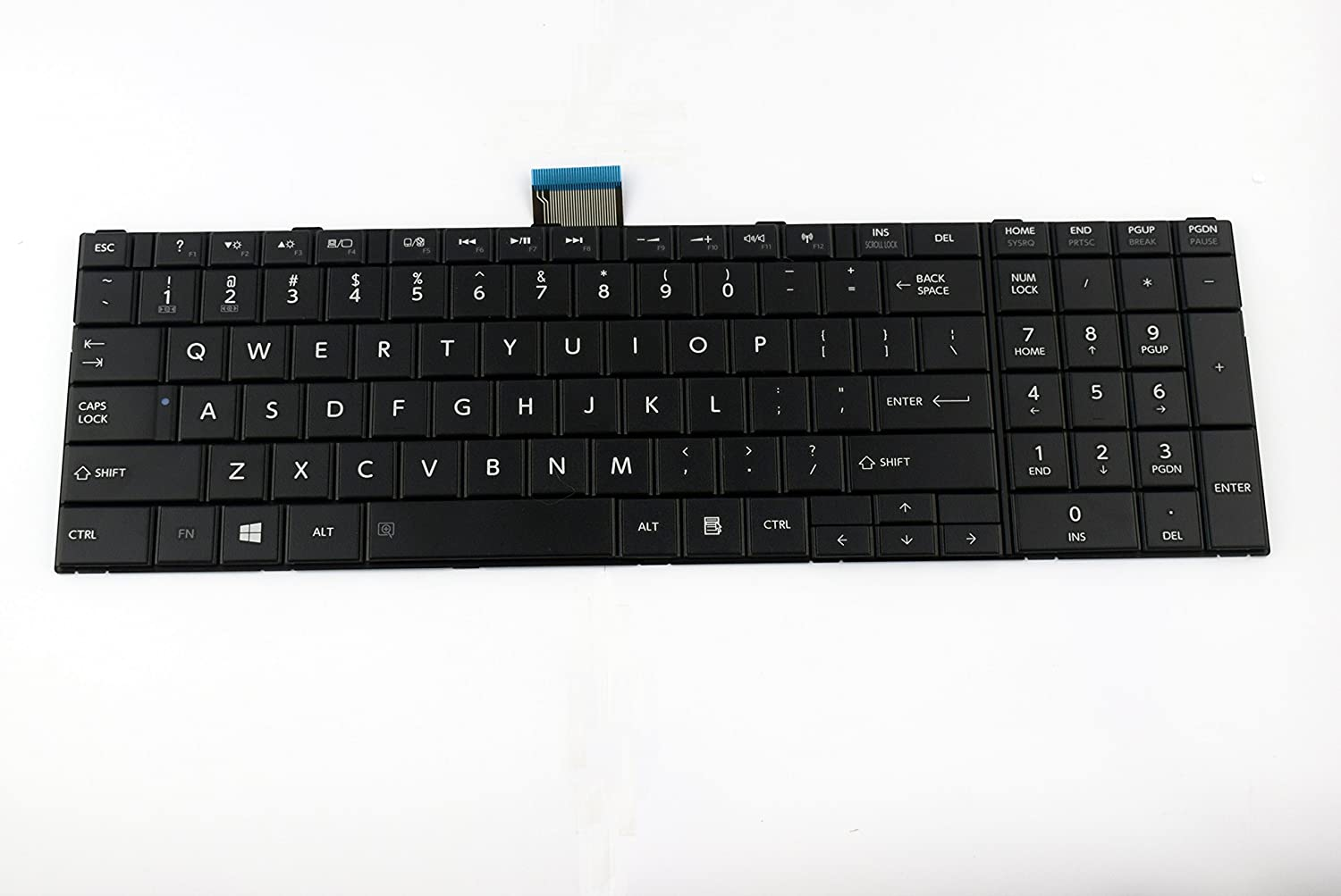NEW C855-1J2 TOSHIBA SATELLITE REPLACEMENT LAPTOP KEYBOARD WITH FRAME