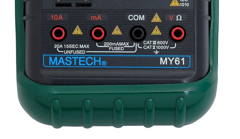 Mastech MY61 Digital Multimeter 1999 Count 3.5 Digit LCD