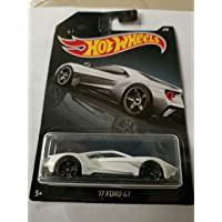 Hot Wheel 17 Ford GT,Scale 1;64 ,White ,one piec car