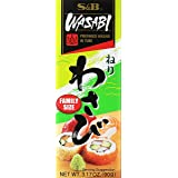 S&B Prepared Wasabi in Tube, Family Size, 3.17 oz (90 g)