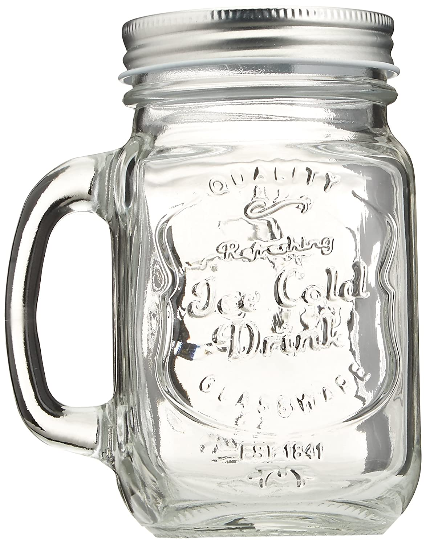 Amazon.com | Estilo Mason Jar Mugs with Handles Old Fashioned ...