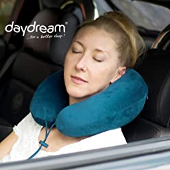 daydream PREMIUM-Reise-Nackenkissen mit Memory Foam, verschiedene Farben (N-5404),Nackenhörnchen, Reisekissen, Nackenstützkissen