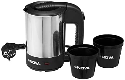 Nova KT 728 0.5-Litre Travel Kettle (Black/Grey)
