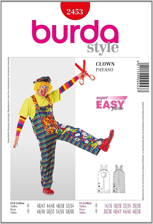 Cartamodello Burda, clown, taglie: donna: 36 56, uomo: 44 60