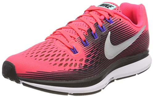 info for d107d 64efb Nike Wmns Air Zoom Pegasus 34 Scarpe Running Donna, Rosa (Solar Red Black