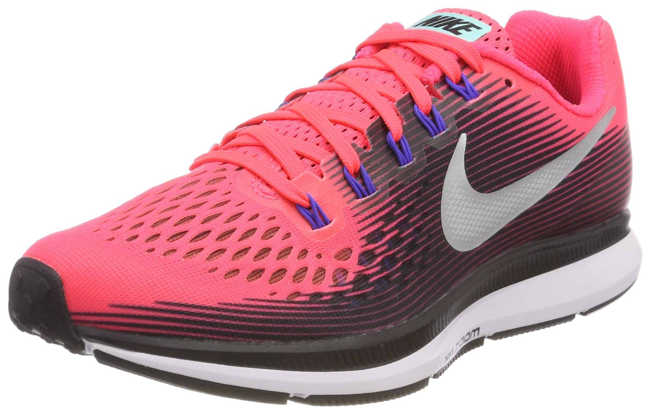 cbd18b57202d Galleon - NIKE Air Zoom Pegasus 34 Women s Running Shoes Size US 6 M Solar  Red Metallic Silver