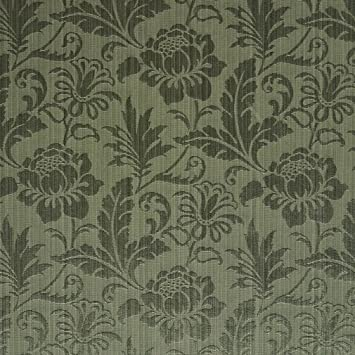 Amazon Com Sage Green Tone On Tone Floral And Leaf Damask