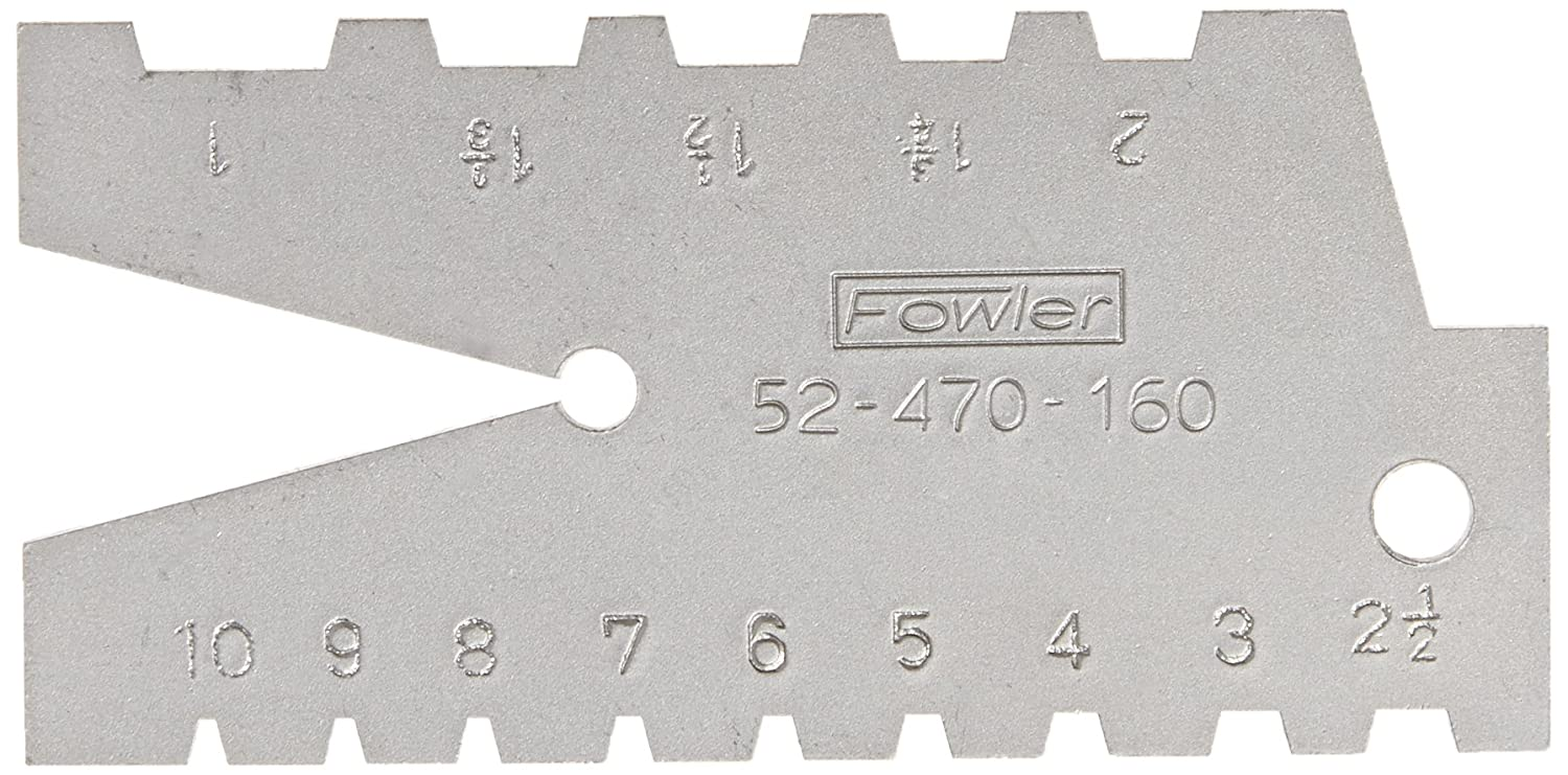 Fowler 52-470-160 29 Degree Pitch Acme Standard Gage 1-10 Range of pitch