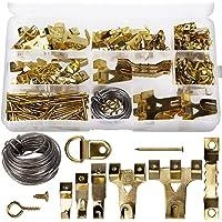AIEX 220 stuks geassorteerde beeldhangers kit frame hangende haken hardware met haken, nagels, hangende draad, zaagtand…