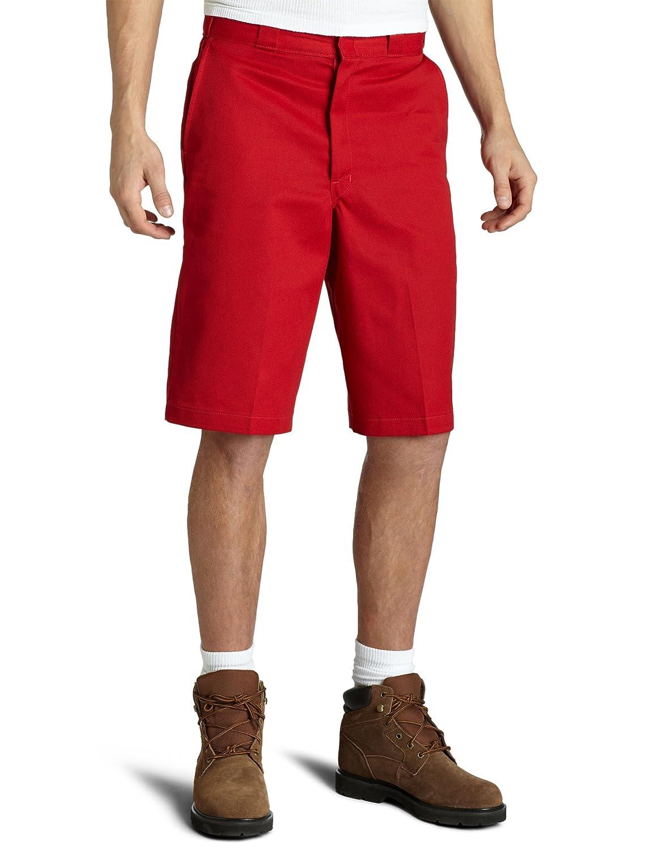 44 Dickies Mens 14 Inch Loose Fit Multi-Pocket Work Short English Red