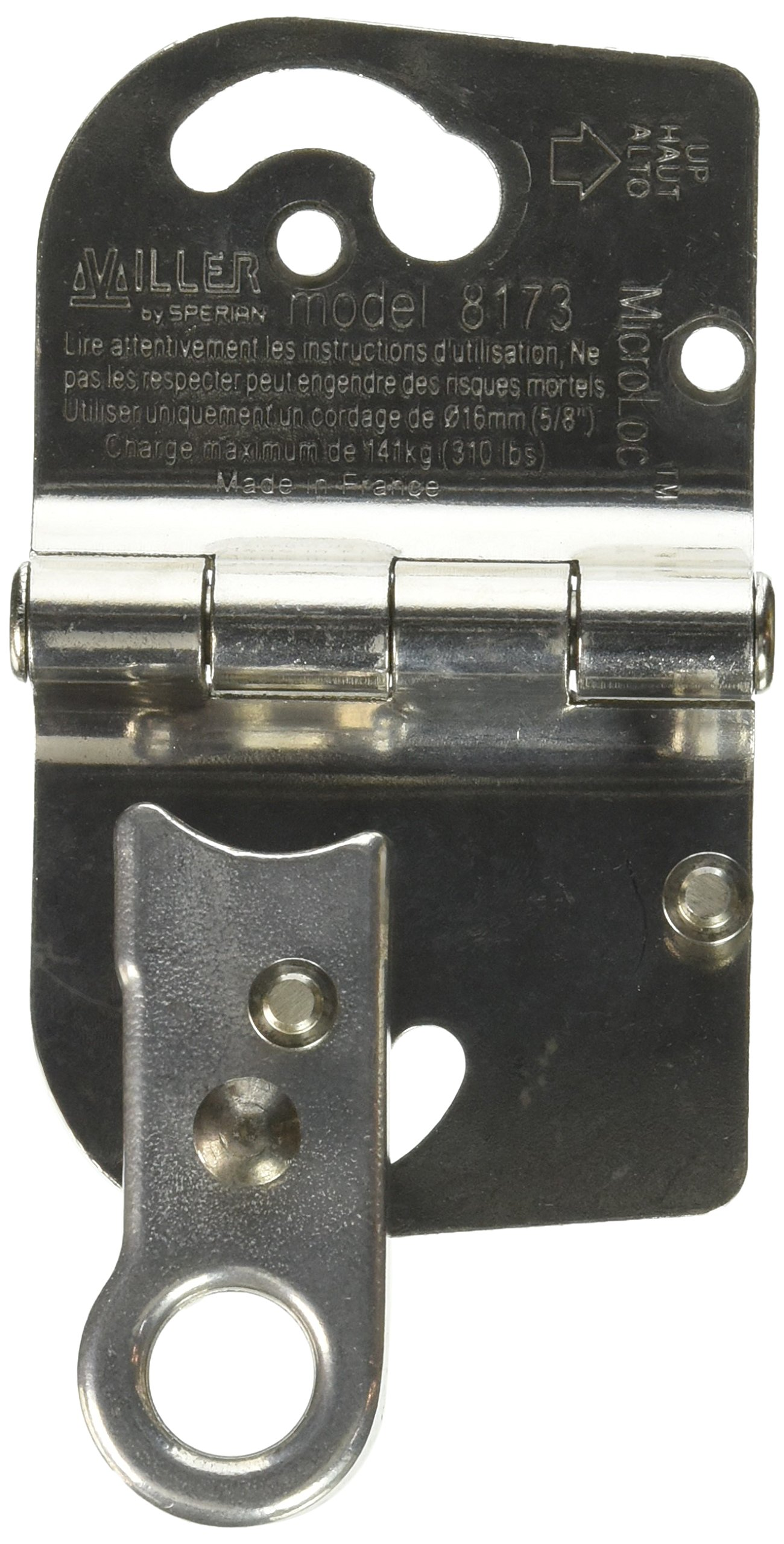 Miller by Honeywell 8173/U MicroLoc Trailing Wire Rope Grabs for 5/8-Inch Wire Rope, Universal by Honeywell (Image #3)