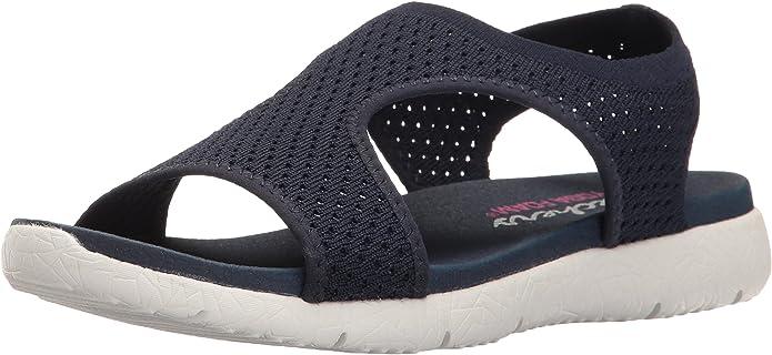Amazon.com | Skechers Cali Womens Microburst Flat Sandal ...