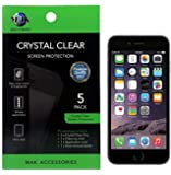 iPhone 6S / iPhone 6 screen protector MAK Premium HD Clear Version Screen Protector (PACK OF 5) Retail Packed - Includes MAK Microfiber Cleaning Cloth and MAK Application Card
