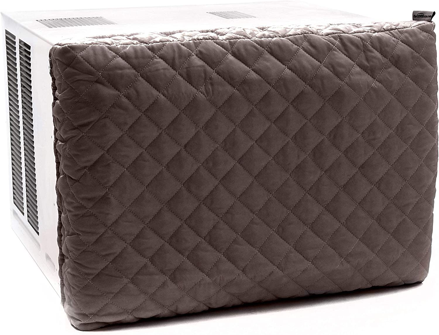 Covermates – Indoor Air Conditioner Cover – 21W x 2.5D x 15H – Diamond – Fitted Elastic - Prevents Drafts - 2 YR Warranty – Year Round Protection