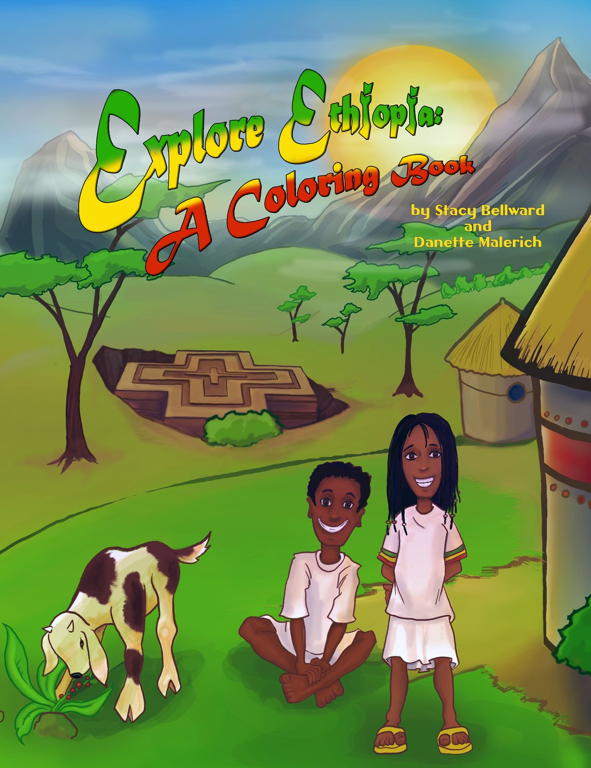 explore ethiopia a coloring book stacy bellward danette malerich 9780979748127 amazoncom books