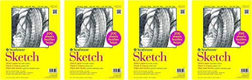 Strathmore 351-9 300 Series Sketch, 9 x12 , 200 Sheets per Class Pack F ur Pa k