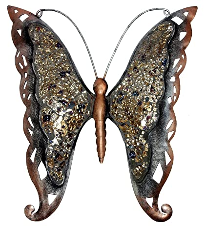 indian butterfly wrought cast iron christmas gift home garden decor wall sculpture 16 x 15 inches - Cast Of The Christmas Gift