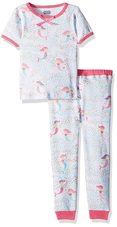 fea7b58cb Amazon.com  Mud Pie Baby Girls Mermaid 2 Piece Short Sleeve Pajamas ...