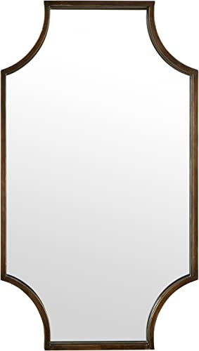 Amazon Brand Stone Beam Antique-Style Metal Frame Hanging Wall Mirror Decor