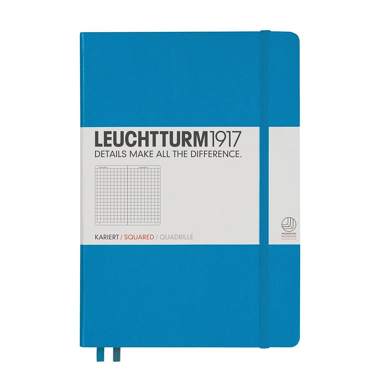 Notizbuch Medium A5 kariert schwarz