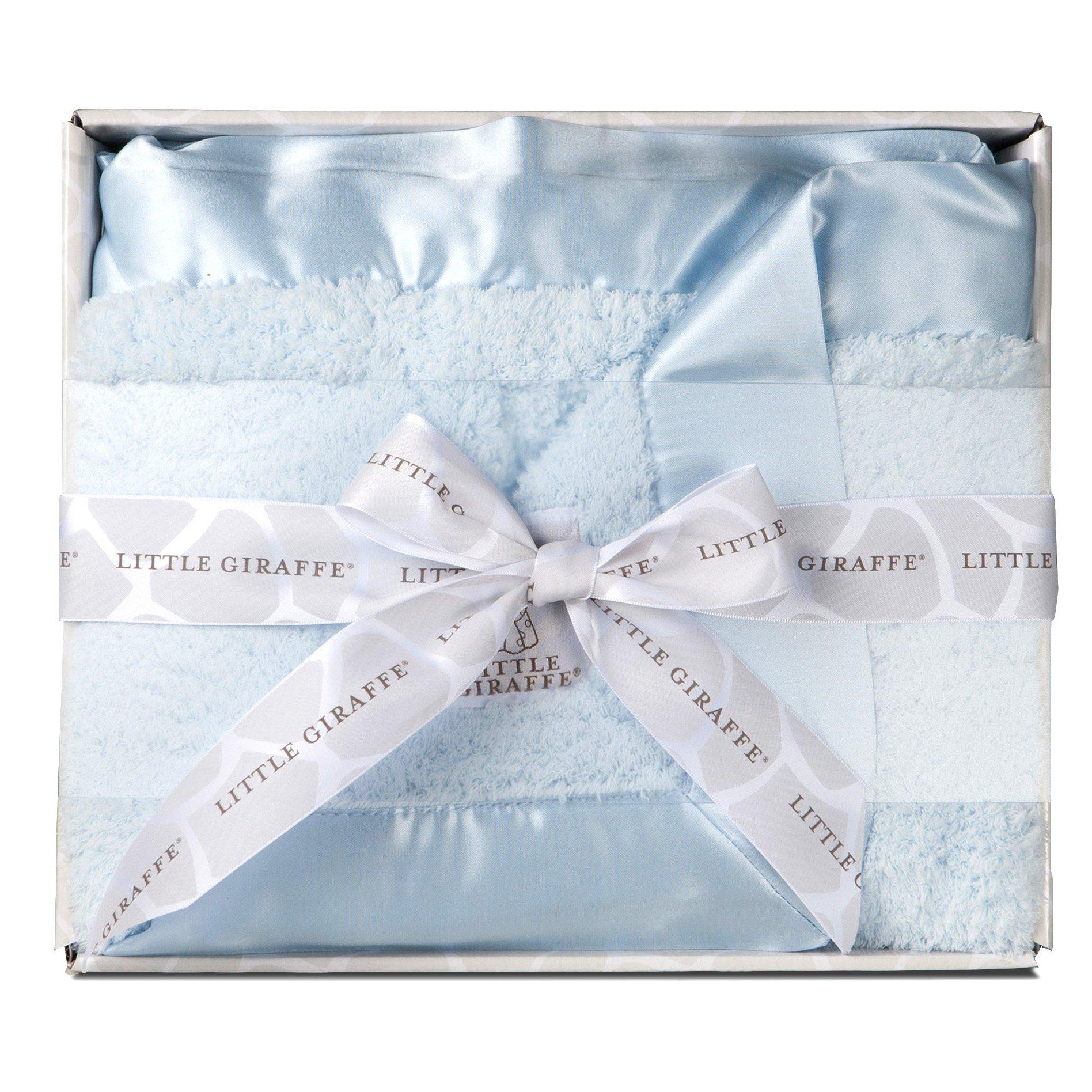 Ritorujirafu Little Giraffe - Dealer imports] chenille baby blanket (Blue) / BOX containing lg0001-01B