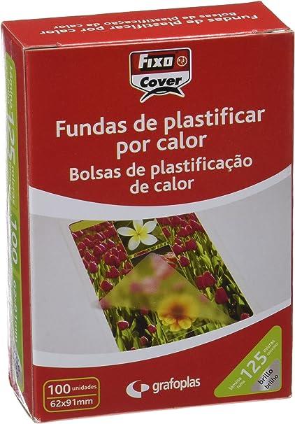 Fixo 1021700 - Pack de 100 fundas para plastificar, transparente, 62 x 91: Amazon.es: Oficina y papelería