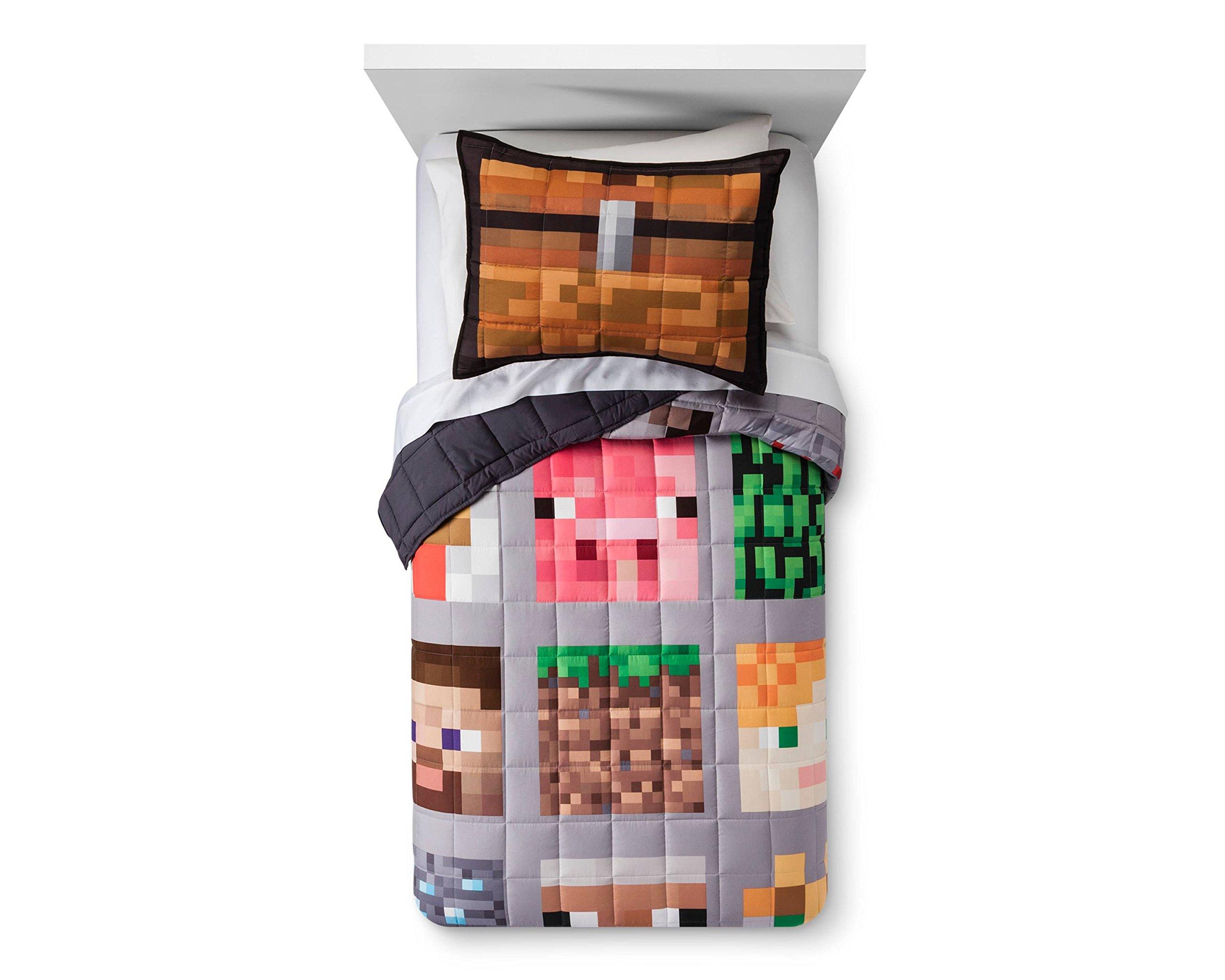 Minecraft Twin Quilt Blanket & Sham 100% Polyester