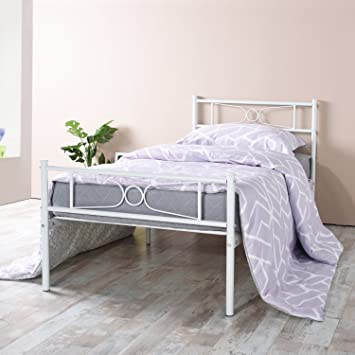 Amazon Com Gime Twin Bed Frame Yanni Lesile Easy Set Up Premium