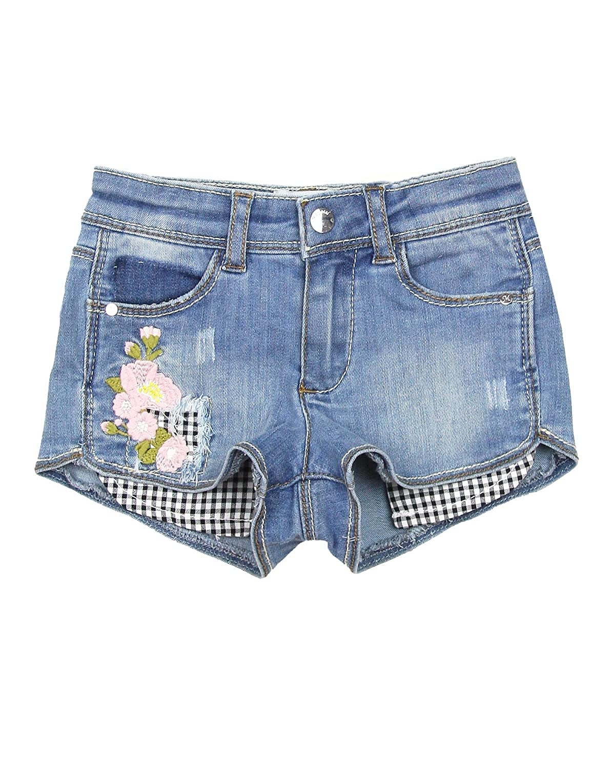 Mayoral Girls Denim Shorts with Florals Sizes 2-9