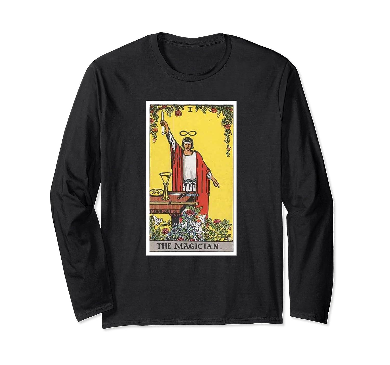 Vintage Magician Tarot Card Long Sleeve T-Shirt #1-fa — Kuxovo