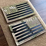 """2x3.5"""" Multicam Infrared IR US USA American Flag Patch Tactical Vest Patch Hook-Fastener Backing (Forward+Reversed)"""