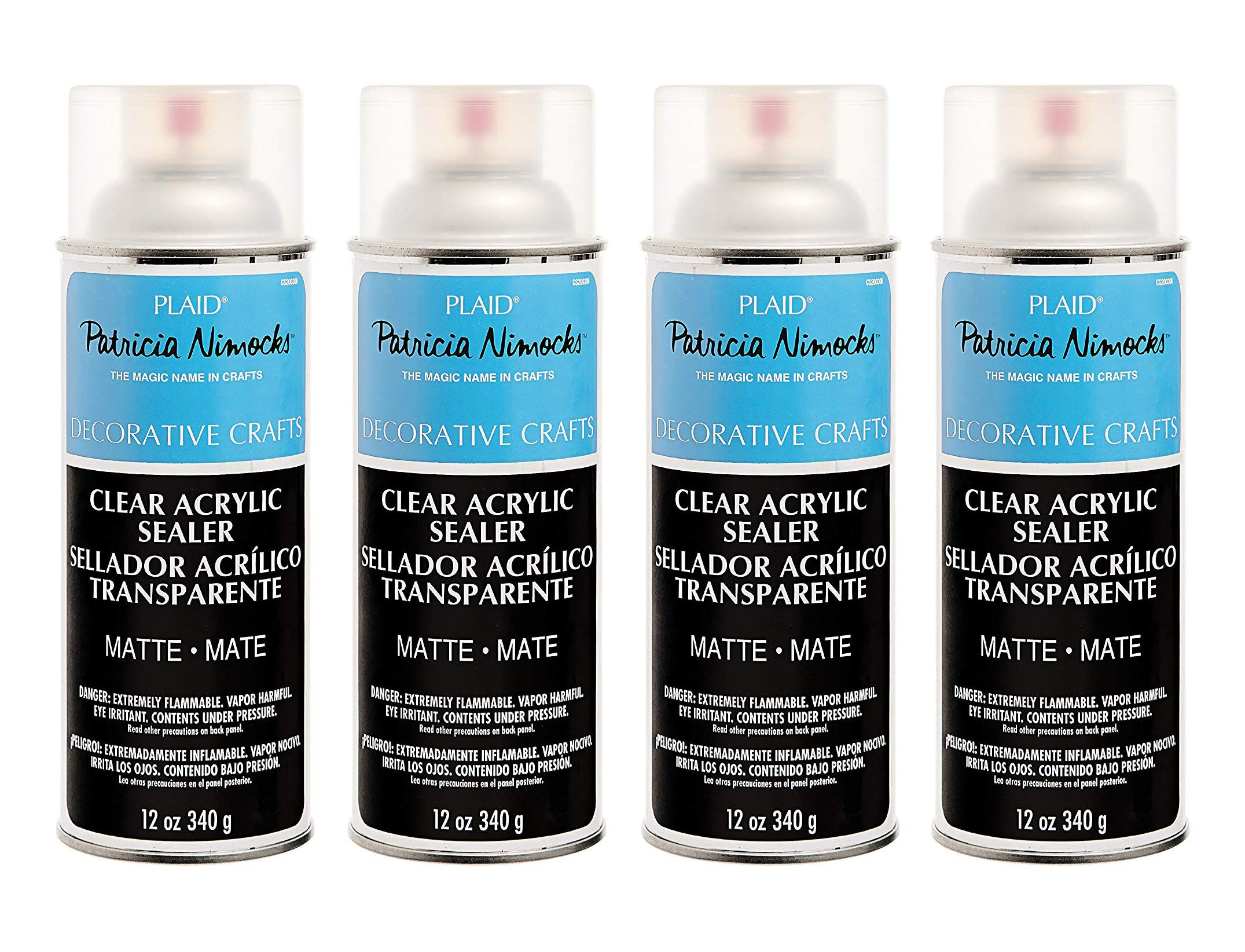 Plaid Patricia Nimocks Clear Acrylic Sealers (12-Ounce), CS200306 Matte (Fоur Расk) by Plaid Enterprises, Inc.