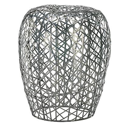 Astounding Amazon Com Open Grid Metal Garden Stool Kitchen Dining Evergreenethics Interior Chair Design Evergreenethicsorg