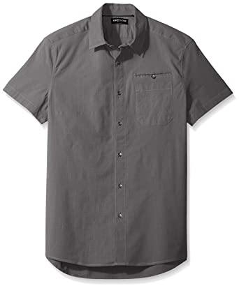 Kenneth Cole New York Men s Short Sleeve Stretch Ripstop Shirt at ... 92611f633