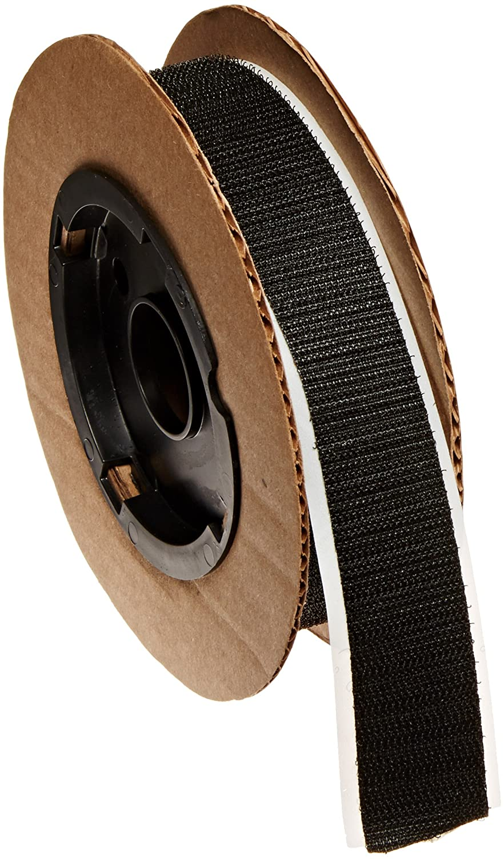 VELCRO 3804-SAT-PSA/H Black Woven Nylon Hook 88, 0132 Adhesive Backed, 1' Wide, 10' Length 1 Wide 10' Length CS Hyde Company Inc 3804-SAT-PSA/H-10