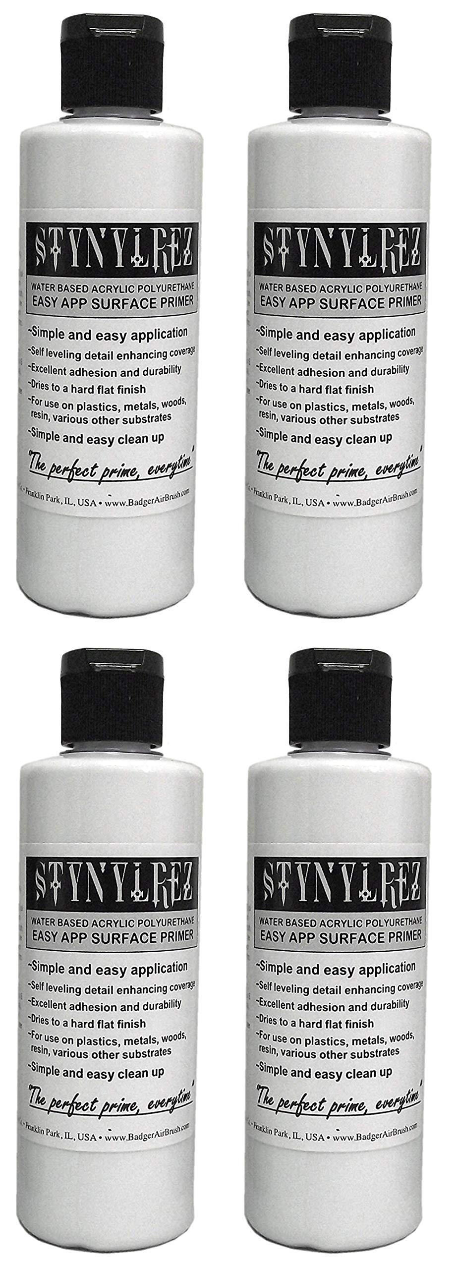 Badger Air-Brush Co. Stynylrez SNR-401 Primer 4 Ounce White (Расk оf Fоur) by Badger Air-Brush Co.
