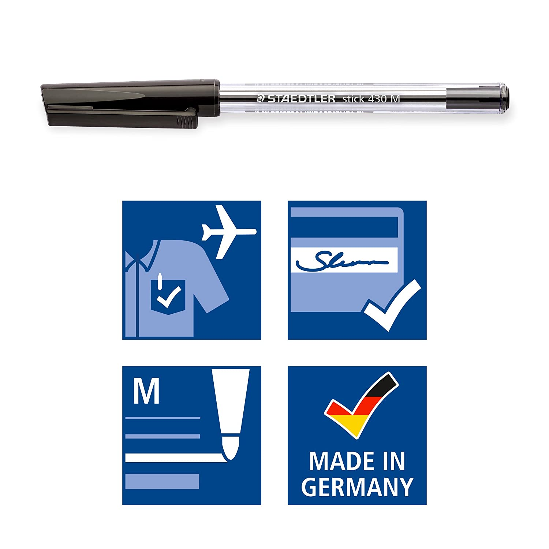 Stylo-Bille Pointe Moyenne Bleue Stick 430