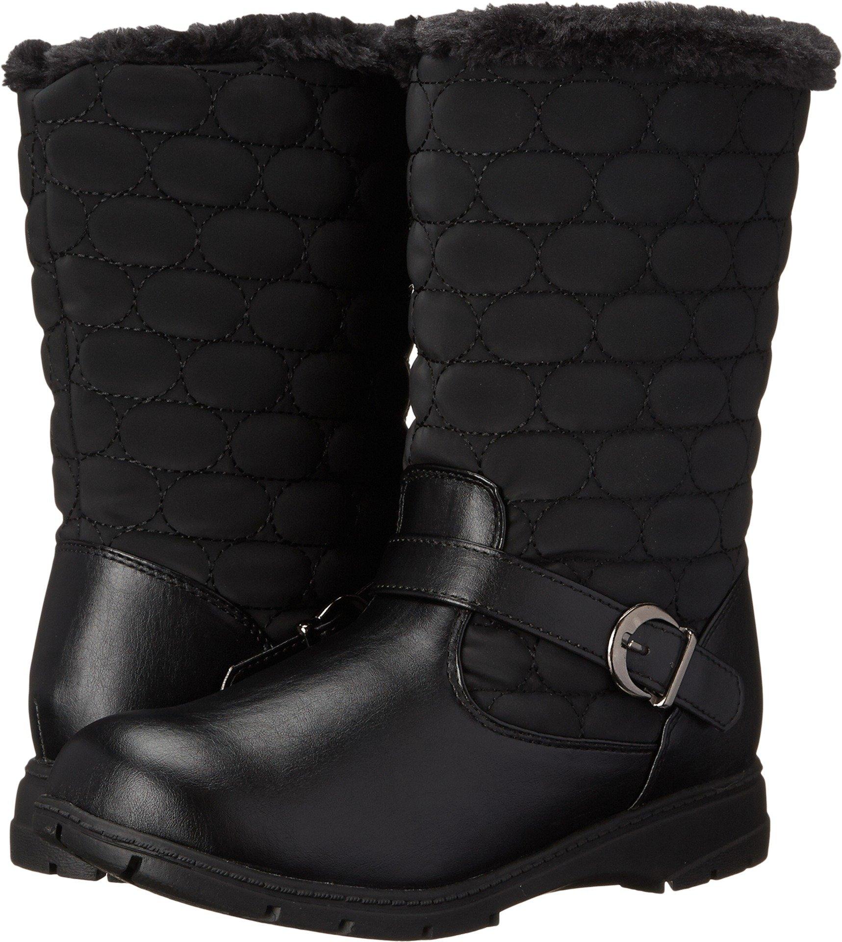 Soft Style by Hush Puppies Women's Pixie Boot, Black Vylon/Vitello, 9.5 2E US