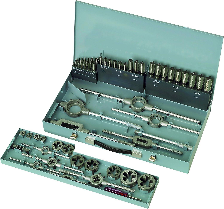 Gertus 1101520 M3-M24 Tap and Die Set in Sheet Steel Case