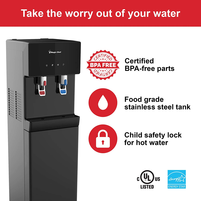 Amazon.com: Magic Chef Water Dispenser Bottom Loading Hot ...