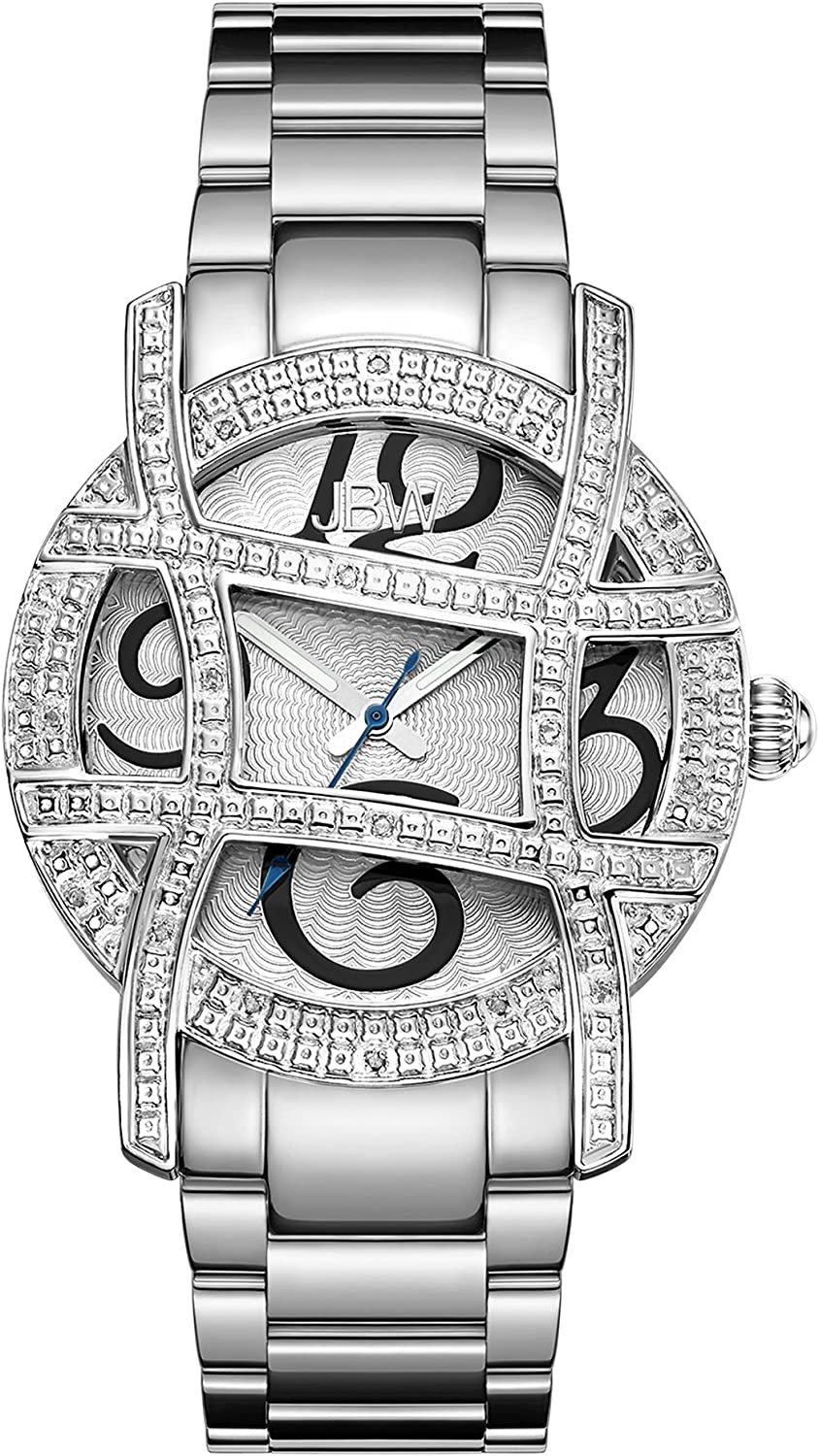 JBW Women's Olympia 0.20 ctw Diamond 18k Gold-Plated Stainless-Steel Watch JB-6214-A