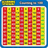 Scholastic TF7005 Counting to 100 Learning Stickers