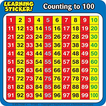 Amazon.com: Scholastic TF7005 Counting to 100 Learning Stickers ...