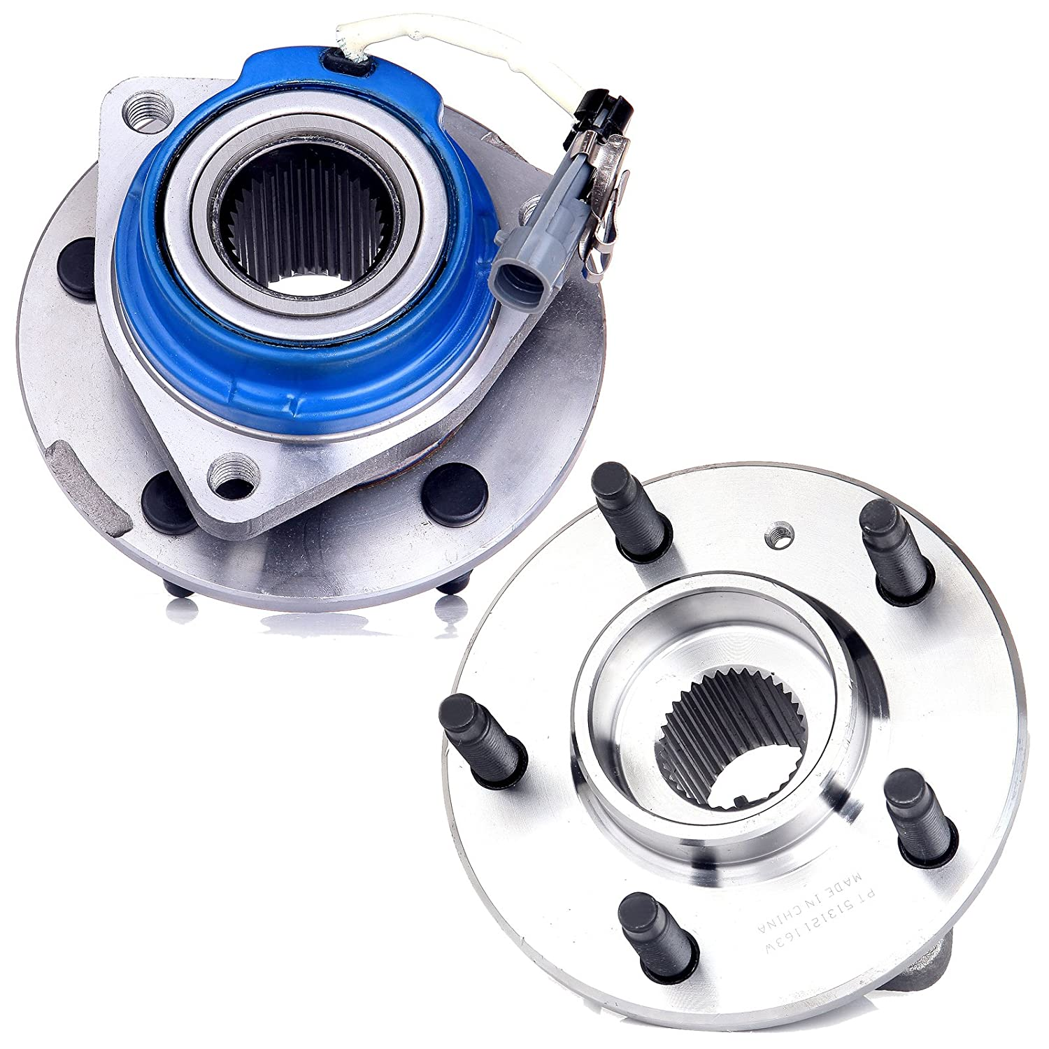 2 New Front Driver Passenger Wheel Hub and Bearing Assembly fit Cadillac DTS Impala Lacrosse Grand Prix W//ABS 5 Lug SCITOO Both