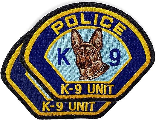 Parche de policía K-9 unidad para el hombro, insignia táctica K9 para unidad de perro (2 unidades): Amazon.es: Juguetes y juegos