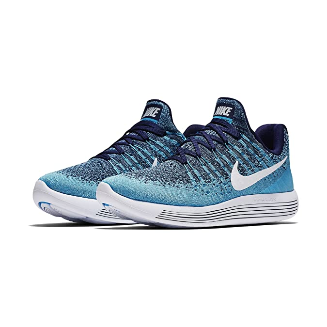 Amazon.com | NIKE Womens LunarEpic Low Flyknit 2 Running Shoe Binary Blue/ White-Polarized Blue 10.0 | Road Running