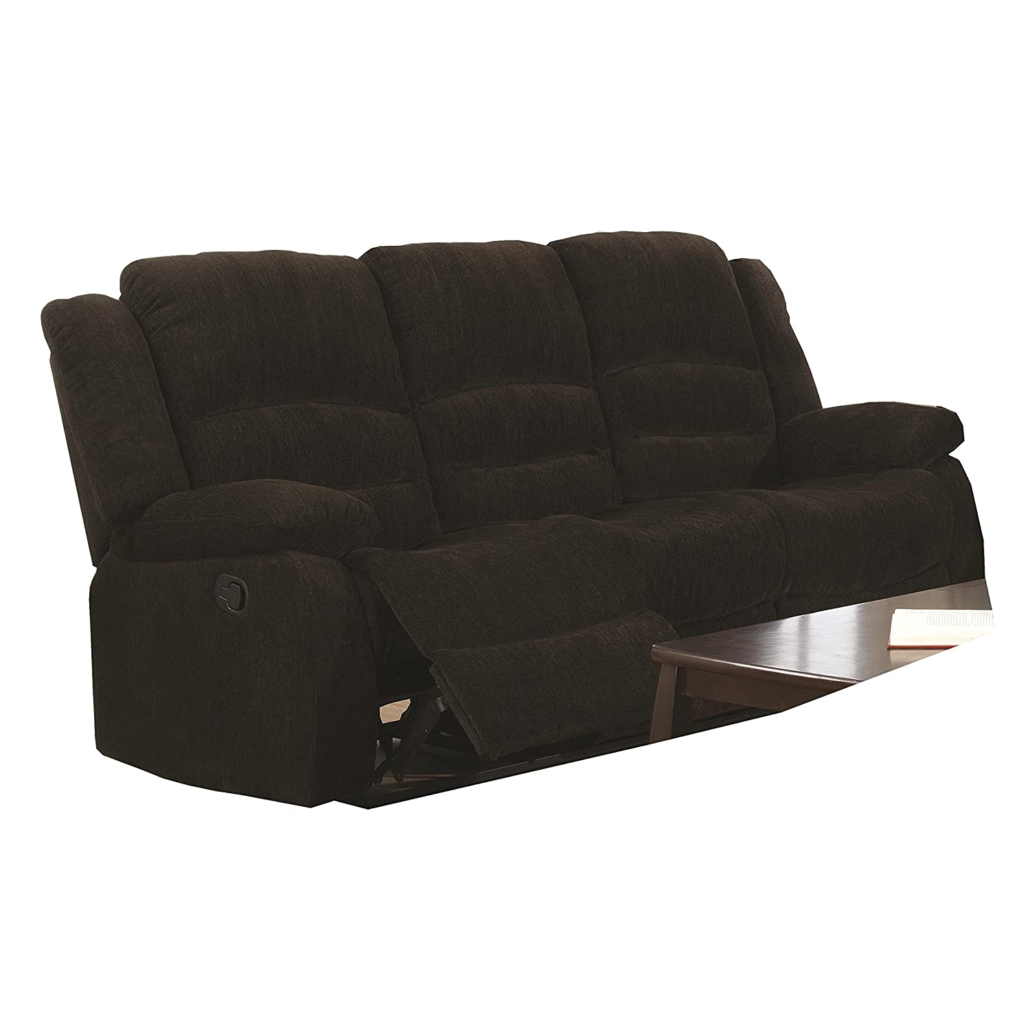 Amazon.com Coaster Home Furnishings Casual Motion Sofa Dark Brown Kitchen u0026 Dining  sc 1 st  Amazon.com & Amazon.com: Coaster Home Furnishings Casual Motion Sofa Dark ... islam-shia.org